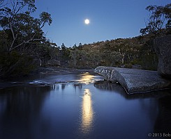 Moon on Bald Rock Creek